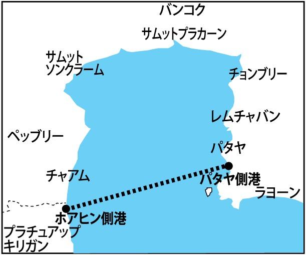 パタヤ-ホアヒンのフェリー、1時間40分で結び1月から開始