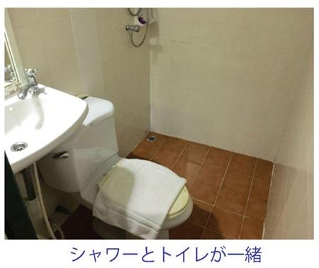 シャワー兼用でトイレがびしょびしょ