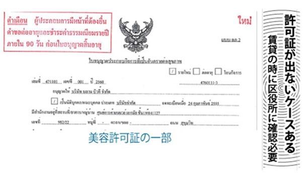 許可証が出ないケースある、賃貸の時に区役所に確認必要