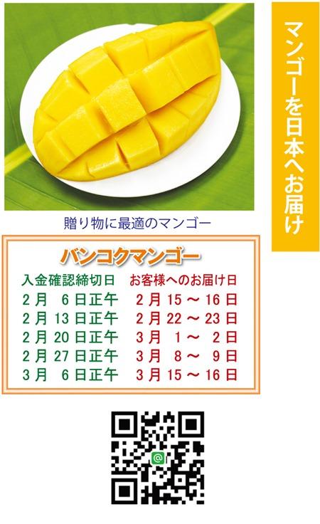 マンゴーを日本へお届け2019年2月5日