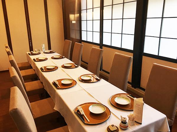 テーブル個室が全部で9室ございます。