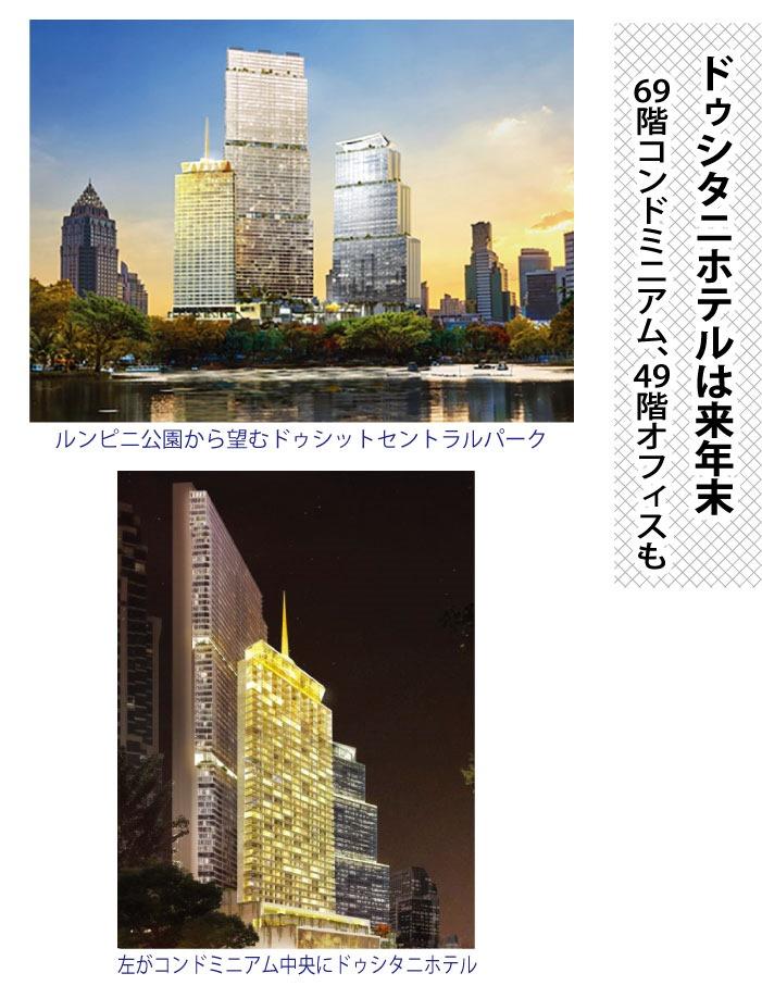 ドゥシタニホテルは来年末、69階コンドミニアム、49階オフィスも