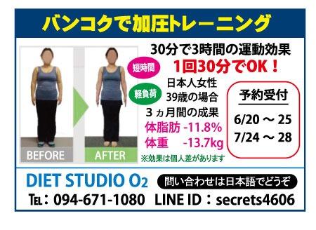 加圧トレーニングの広告