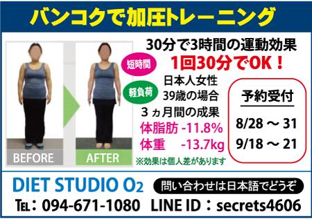 ダイエットスタジオO2の広告