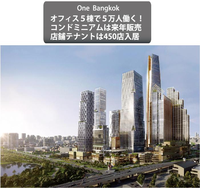 日本大使館の横に建設中のOne Bangkok (完成図)