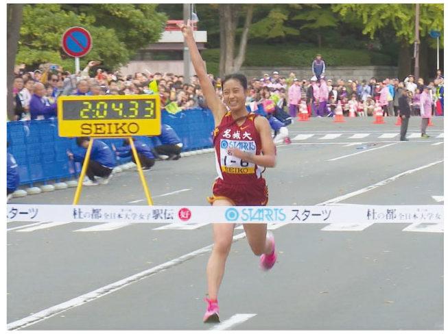最終6区(6.7km)の荒井優奈(1年)2位の大東文化大学に2分31秒の大差をつける。出場6人中、3人が区間賞を取る快走で圧勝劇を見せた。