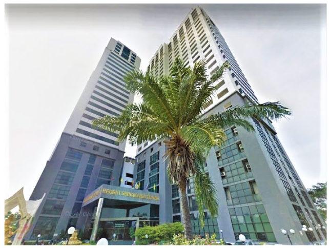 日系の㈱ラトレイが事業化した2棟27階建てコンドミニアム(総戸数700戸1993年竣工、エアポートリンク徒歩10分)