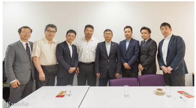 新潟県上越市からの企業経営者の参加者