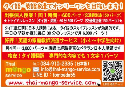 マンゴーサービスの広告