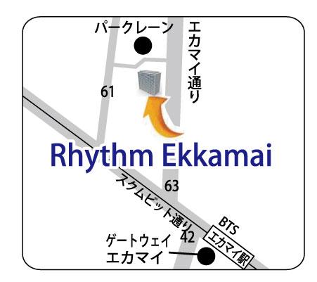 RHYTHM Ekkamai の地図