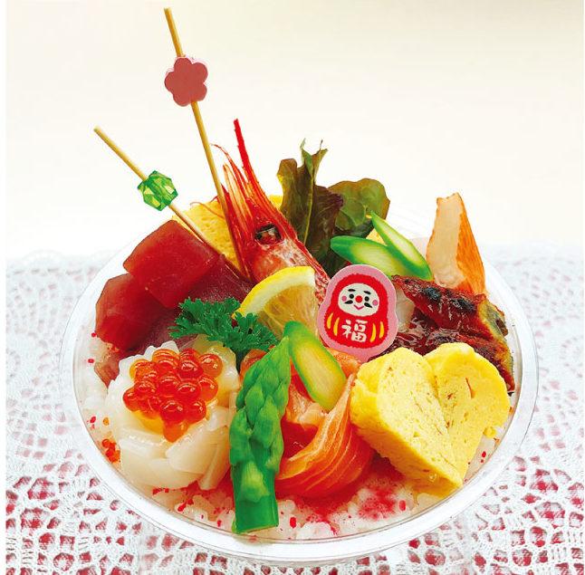 ファミリー大歓迎の日本料理店「博多」のスノードーム風ちらし寿司(350バーツ)