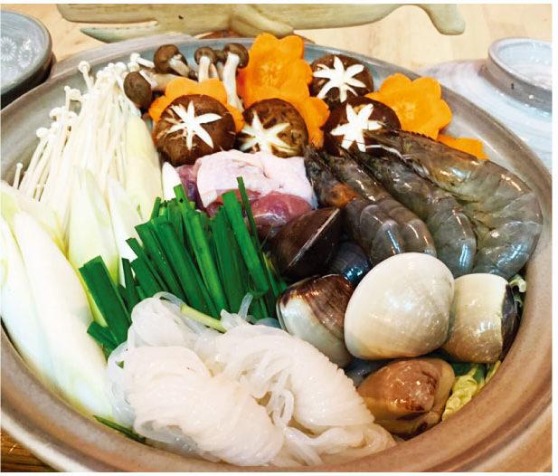 人気の海島の海鮮鍋