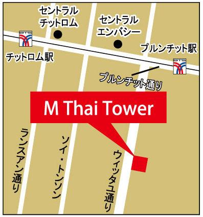Mタイタワーの地図
