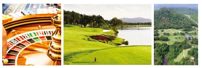 ラオスではカジノやゴルフも楽しめる