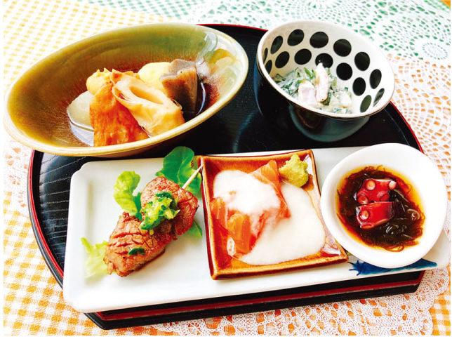 日本料理店「博多」の晩酌セット(270バーツ)