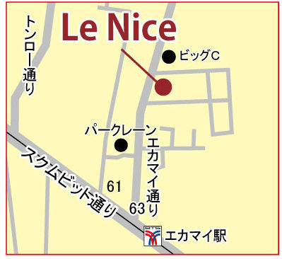 ル ニースの地図
