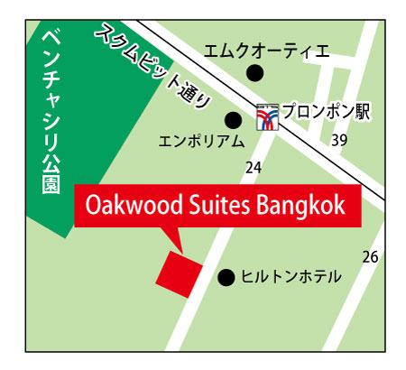 オークウッド・スイーツ・バンコクのち地図