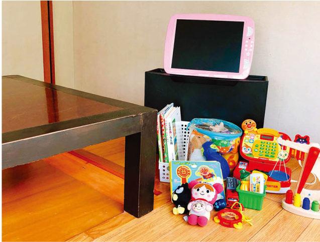 2階の個室にあるおもちゃ