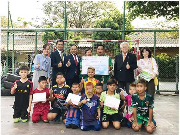 非行防止のためのサッカー活動費に Social Development and Serviceへの寄付