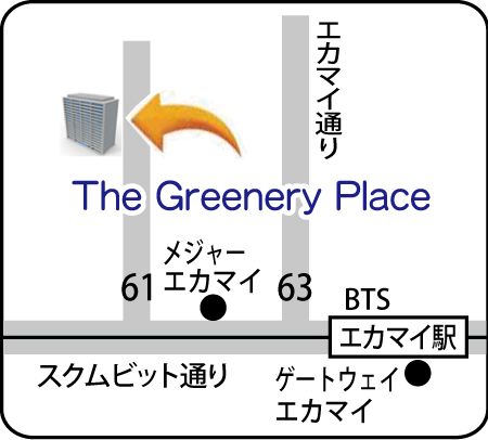 The Greenery Placeの地図