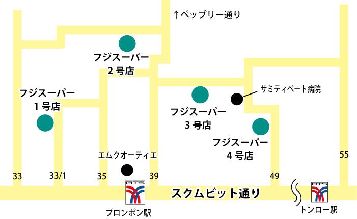 フジスーパーの地図