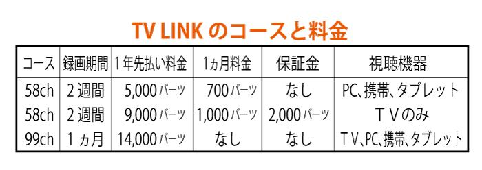 TV LINKなら1年5,000バーツで58チャンネル