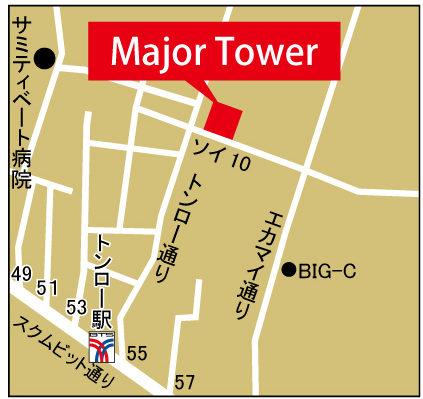メジャー・タワーの地図