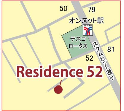 レジデンス 52の地図