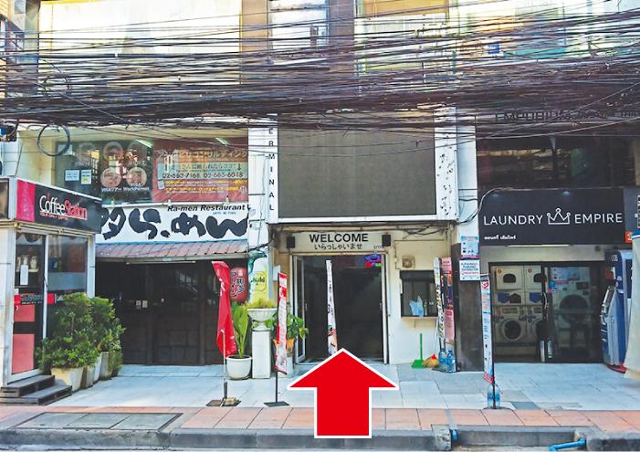 カットスタジオM'sは知多ラーメン右隣の入口から入ります