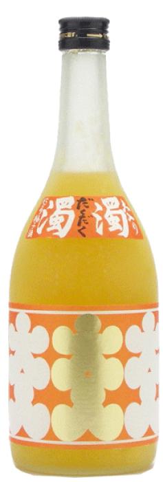 ゆず酒バージョン「大入濁濁 」720㎖1,350バーツ「大入りにごり梅酒 濁濁(だくだく)」の柚子バージョン果肉の無い柚子をつかって、食感を出すために寒天を使用し濁濁感を実現しています