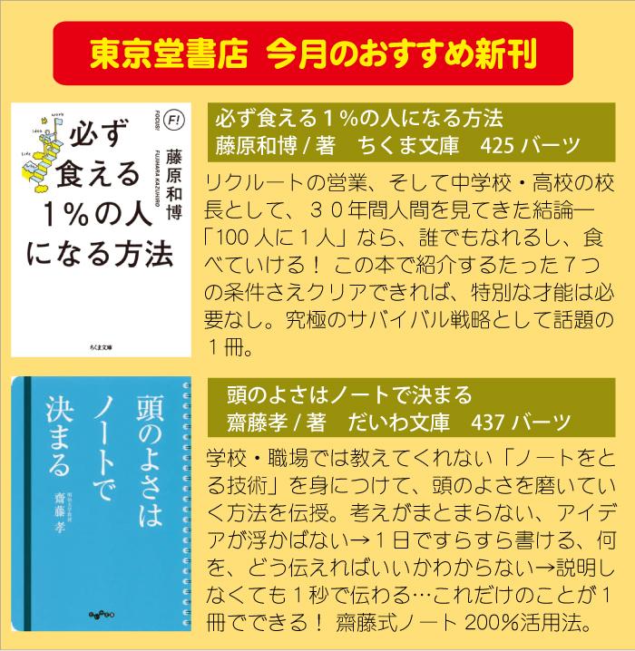 東京堂書店の2020年7月20日のおすすめ新刊