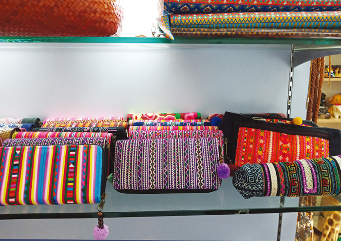 2階の布製品のコーナー
