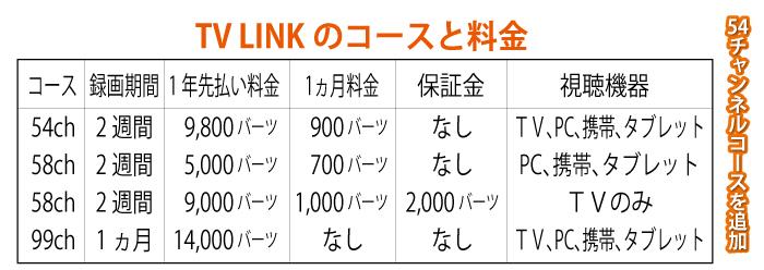 日本人が応対する「TV LINK」では54チャンネルコースを追加