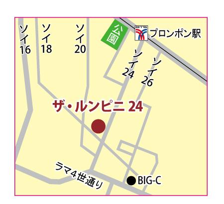 ザ・ルンピニ24の地図