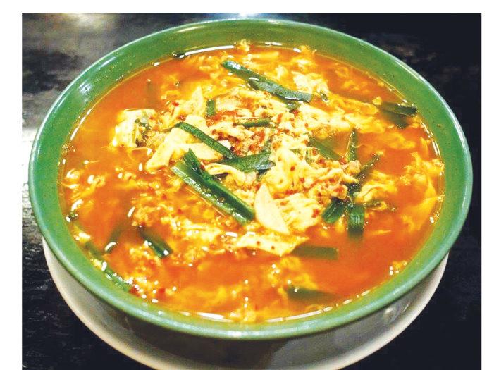 唐辛子の量を選べる「辛麺(268バーツ)」