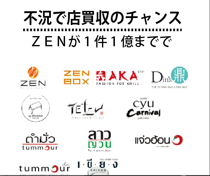 不況で店買収のチャンス、ZENが1件1億までで