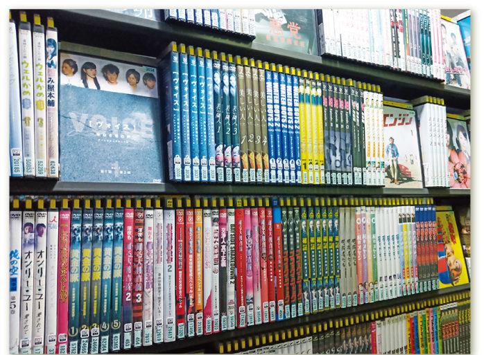 レンタルDVD、日本の映画やドラマ