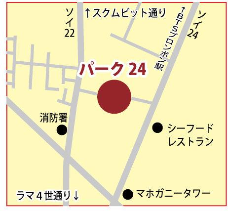 パーク24の地図
