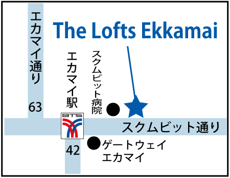 「ザ・ロフト・エカマイ(The Lofts ekkamai)」の地図