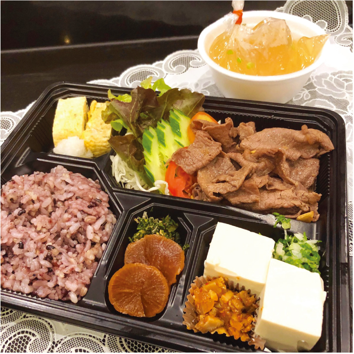 低糖質牛肉スタミナ焼き弁当(320バーツ)