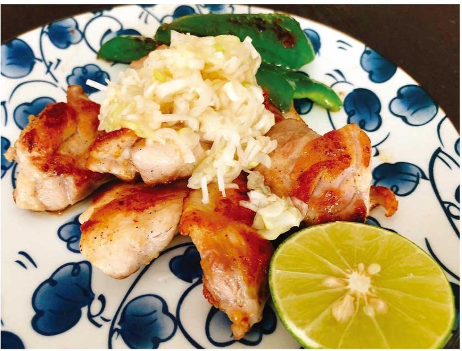 さっぱり美味しい!鶏肉のネギ塩ソース