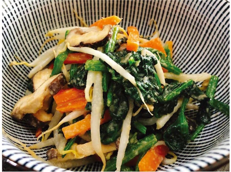 野菜たっぷりの胡麻和え