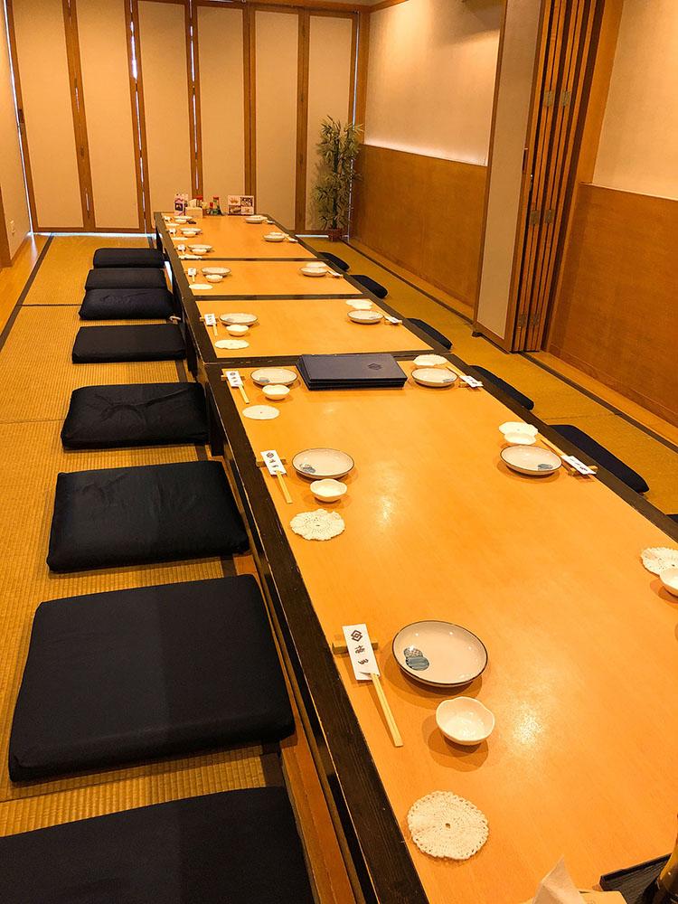 博多の座敷席