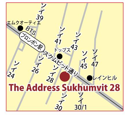 ジ・アドレス・スクムビット 28の地図