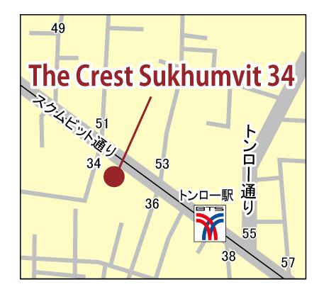 ザ・クレスト・スクムビット 34のちず