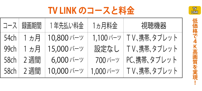 「TV LINK」低価格で4K高画質を実現!