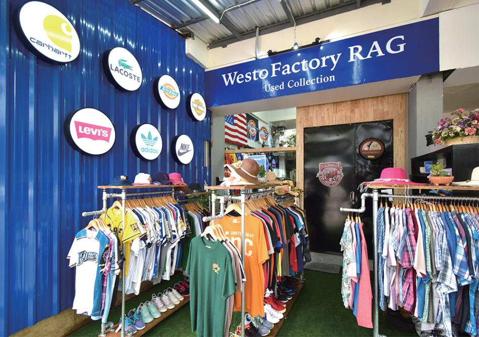 WestoFactory RAGシラチャAEONモール前店ではスポーツブランドからカジュアルブランドまで取り揃えています