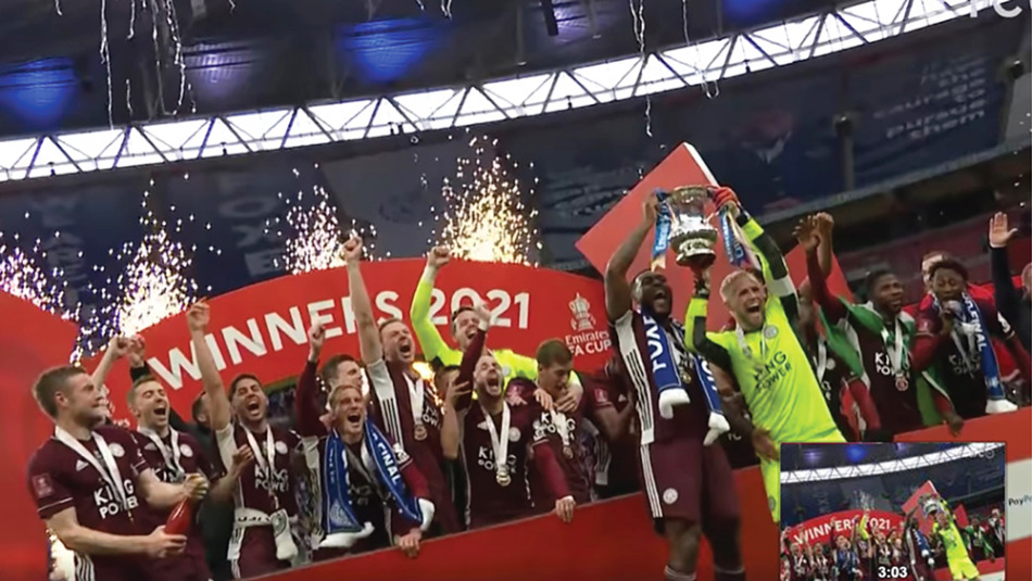 さきのFAカップで優勝したレスターシティー