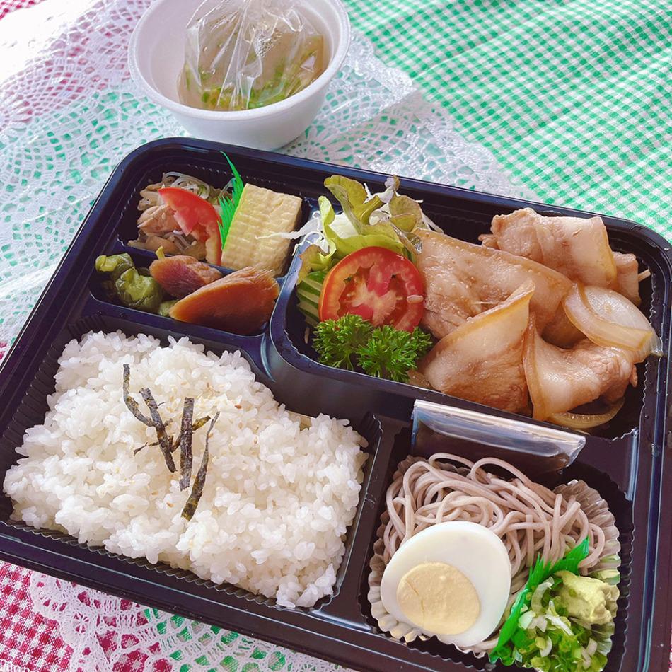 博多の豚バラ生姜焼き弁当(280バーツ)