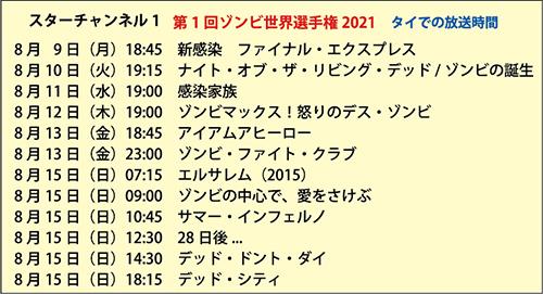 日本のテレビ視聴はJスターTVで 第1回ゾンビ映画世界選手権 スターチャンネル1で8月に 10ヵ国12作品放送